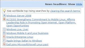 Tampilan News Headlines